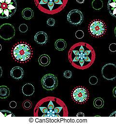 slaglängder, abstrakt,  seamless, mönster, Stänk, cirklarna, bakgrund, blommig