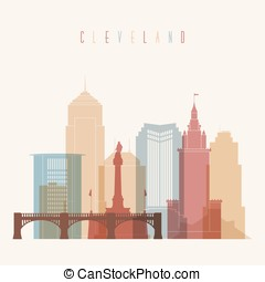 Cleveland skyline city