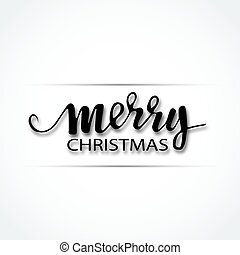 Merry Christmas Lettering Design