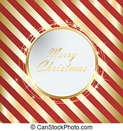 Red Christmas background with Golden stripes eps10