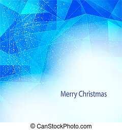Winter background with triangle texture