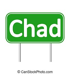 Chad road sign. - Chad road sign isolated on white...