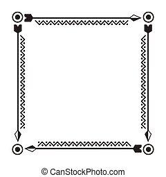 boho style design - decorative square frame. boho style...
