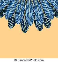 boho style design - colorful feathers decoration frame. boho...
