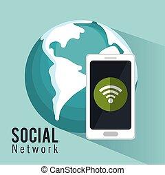 global social metwork smartphone internet