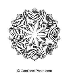 boho style design - decorative mandala over white...