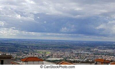 Panorama from Tivoli. Italy. UltraHD (4K)
