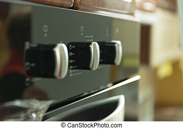 Control Panel - The control panel of kitchen oven black