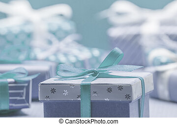 many beautiful blue christmas gits - many beautiful blue...