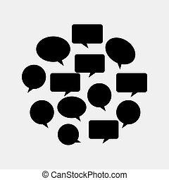 communication bubbles design
