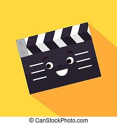 cartoon clapper movie film design