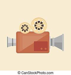 camera film vintage recorder movie vector illustration eps...