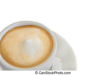 cappuccino coffee in white cup