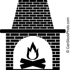 fireplace icon vector illustration - fireplace icon stock...