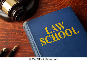 Title Law school on a book