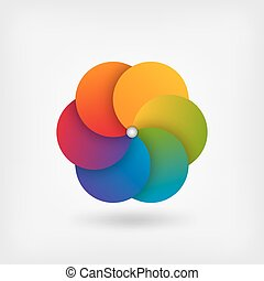 abstract circle symbol in rainbow colors. vector...