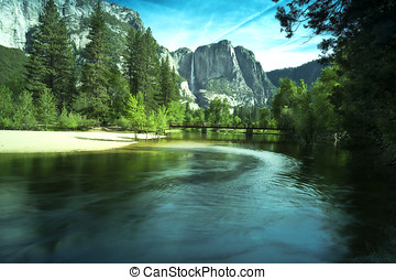 Yosemite National Park - Upper Yosemite Falls in the...