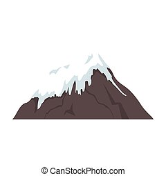 mount fuji japan isolated