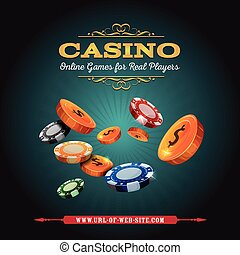 Casino And Gambling Background - Illustration of a design...