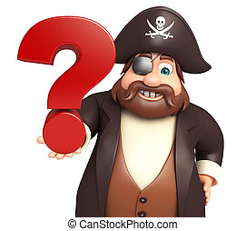 Pirate with Question mark sign