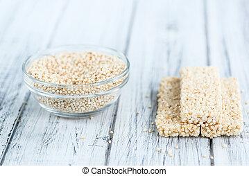 fresco, barras, hecho,  Quinoa