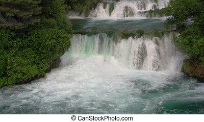 waterfalls in Krka National Park, Croatia