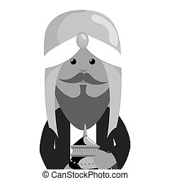 wise man epiphany manger character vector illustration...