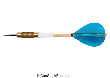 Dart - Blue dart isolated on white background