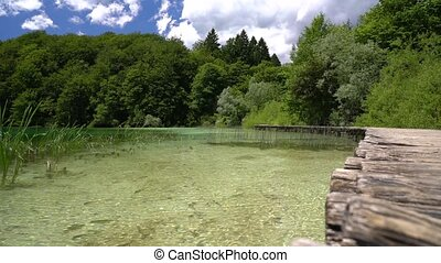 pacifying landscape of marvelous nature in Plitvice National...