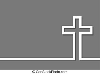 Cross icon. Vector illustration - White cross icon. Vector...