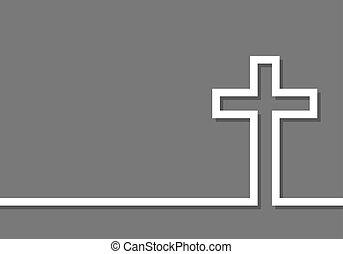 Cross icon. Vector illustration - White cross icon. Vector...