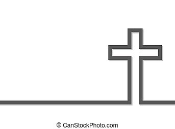 Cross icon. Vector illustration - Gray cross icon. Vector...