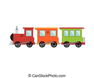 train toy kid isolated icon vector illustration design