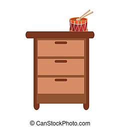 closet with toy icon vector illustration design
