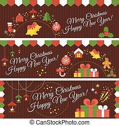 set of christmas banners - Set of christmass banners....