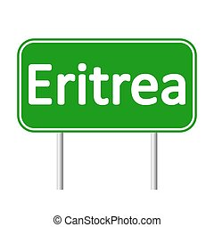 Eritrea road sign. - Eritrea road sign isolated on white...