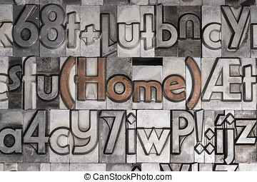 Home created with movable type printing