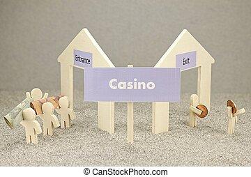Loser in the casino