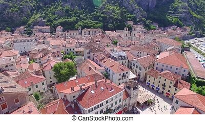 Aerial view of Kotor
