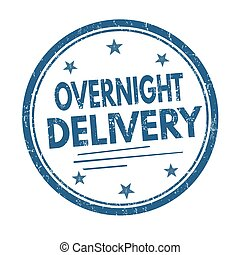 Overnight delivery sign or stamp - Overnight delivery grunge...
