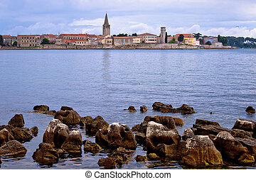 Town of Porec coast view, UNESCO landmark in Istria