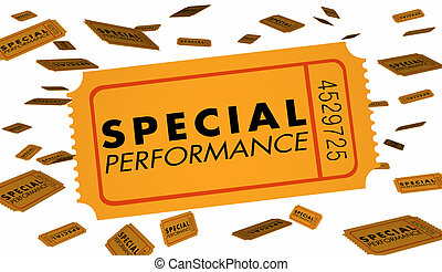 Special Performance Concert Theatre Play Recital Ticket 3d...