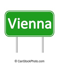 Vienna road sign. - Vienna road sign isolated on white...
