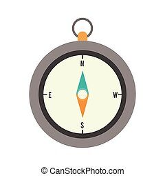 full color with Compass of hand vector illustration