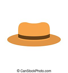 full color with beach hat of man vector illustration