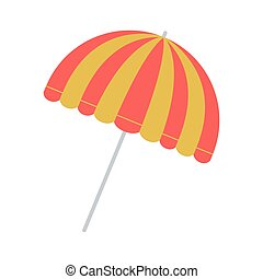 full color with parasol opened vector illustration