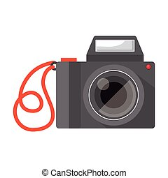 full color with camera photo vector illustration