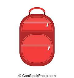full color suitcase with pockets with zipper vector...
