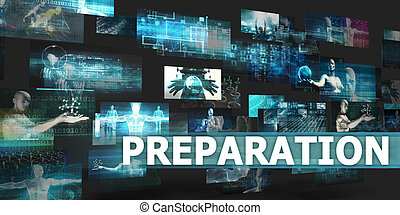 Preparation Presentation Background with Technology Abstract...