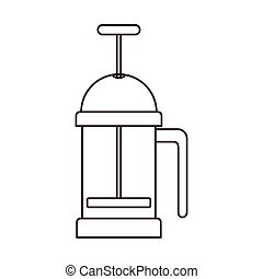 silhouette coffee grinding jarra with crank vector...